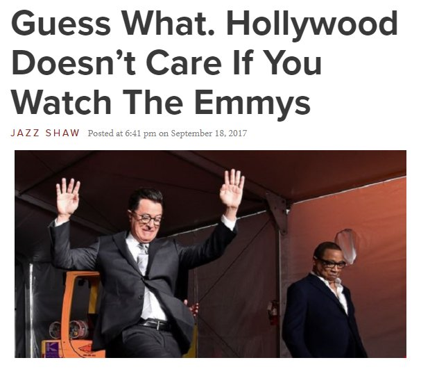 Oh Hollywood, our TVs were off. Believe it!