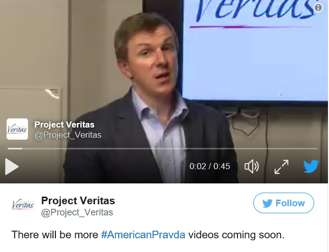WATCH: James O'Keefe Teases 'Biggest Ever Media Investigation' -- Muses 'People Will Be Fired'