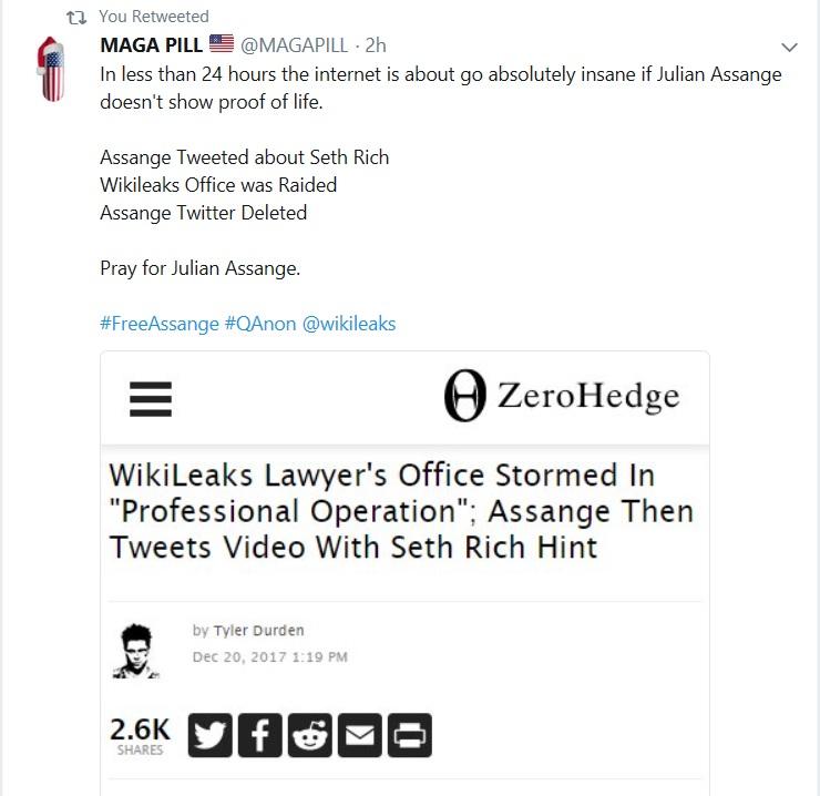 Breaking: Julian Assange Twitter is down.