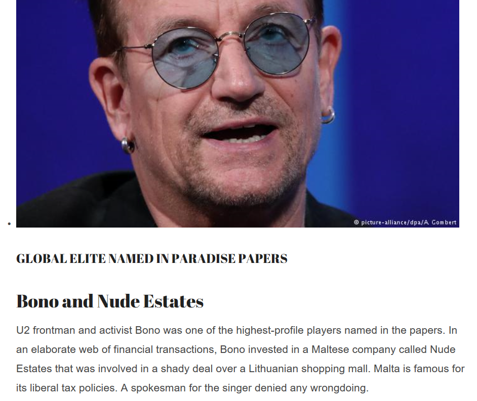 Look who is most affected by U.S tax cuts!! Follow the BONO...