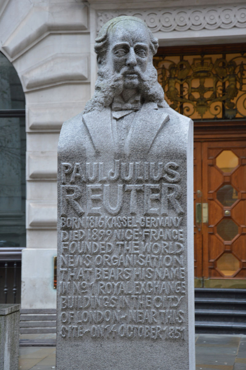 The Rothschilds had financed Paul Reuter