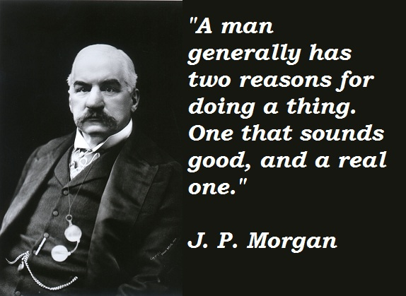 The monopoly of Electricity and Railroads  belonged to J.P. Morgan & Company