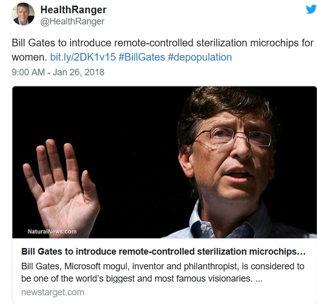 Bill Gates to introduce remote-controlled sterilization microchips for women