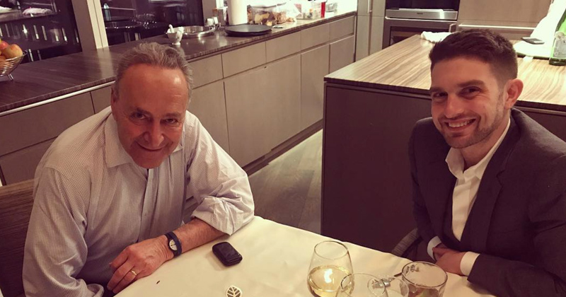Schumer cozy with Alex Soros, taking orders
