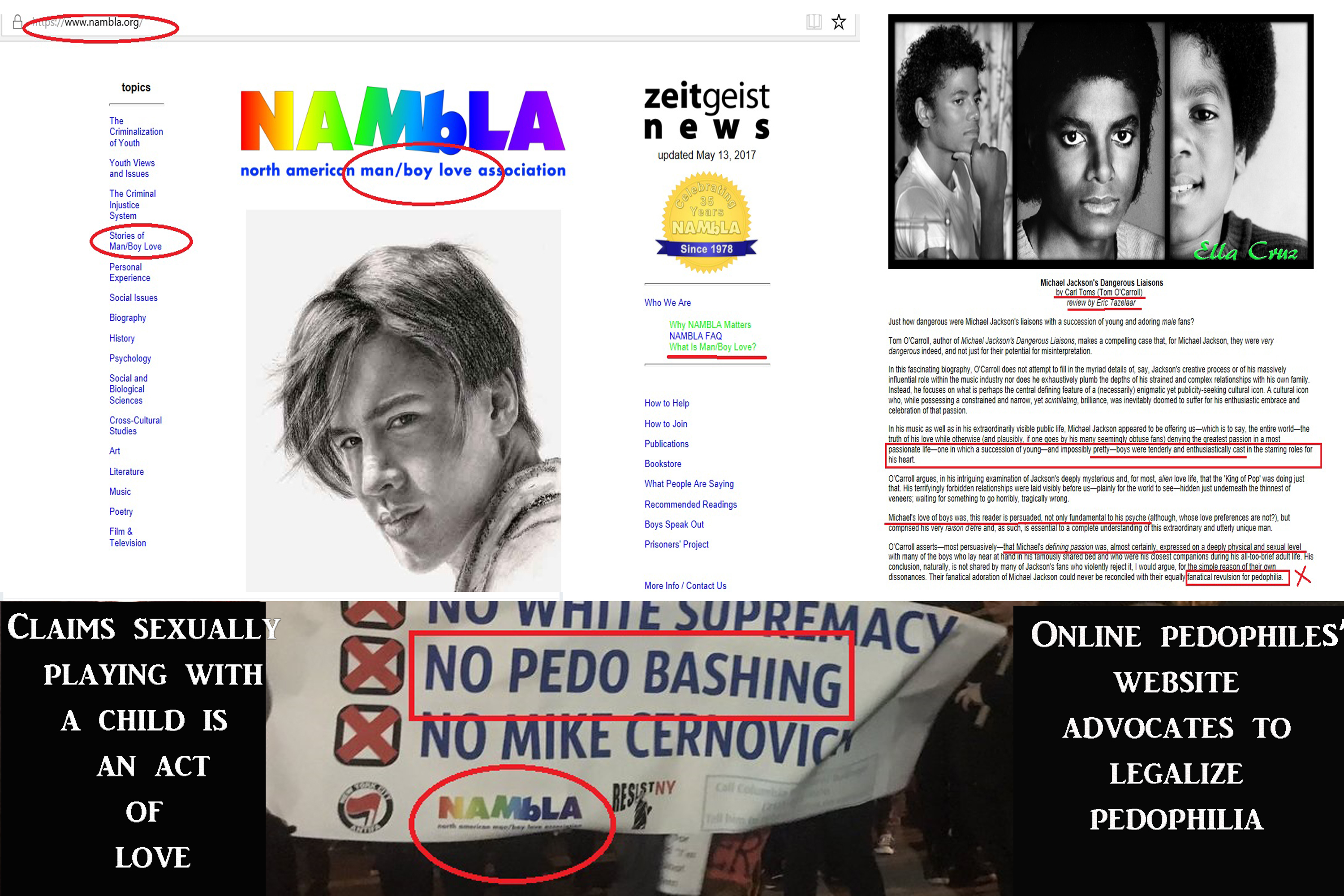 NAMBLA; The Pedophiles' Website Right In Our Faces