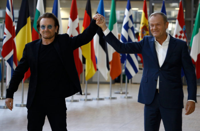 Bono Advocates For Uniting Against Trump & Conquering The World By Internationalism