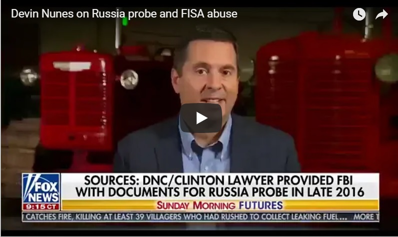 Chairman Devin Nunes On FISA Abuse And New Progress in DOJ + FBI Corruption: The Role Of Rosenstein In Covering Up.