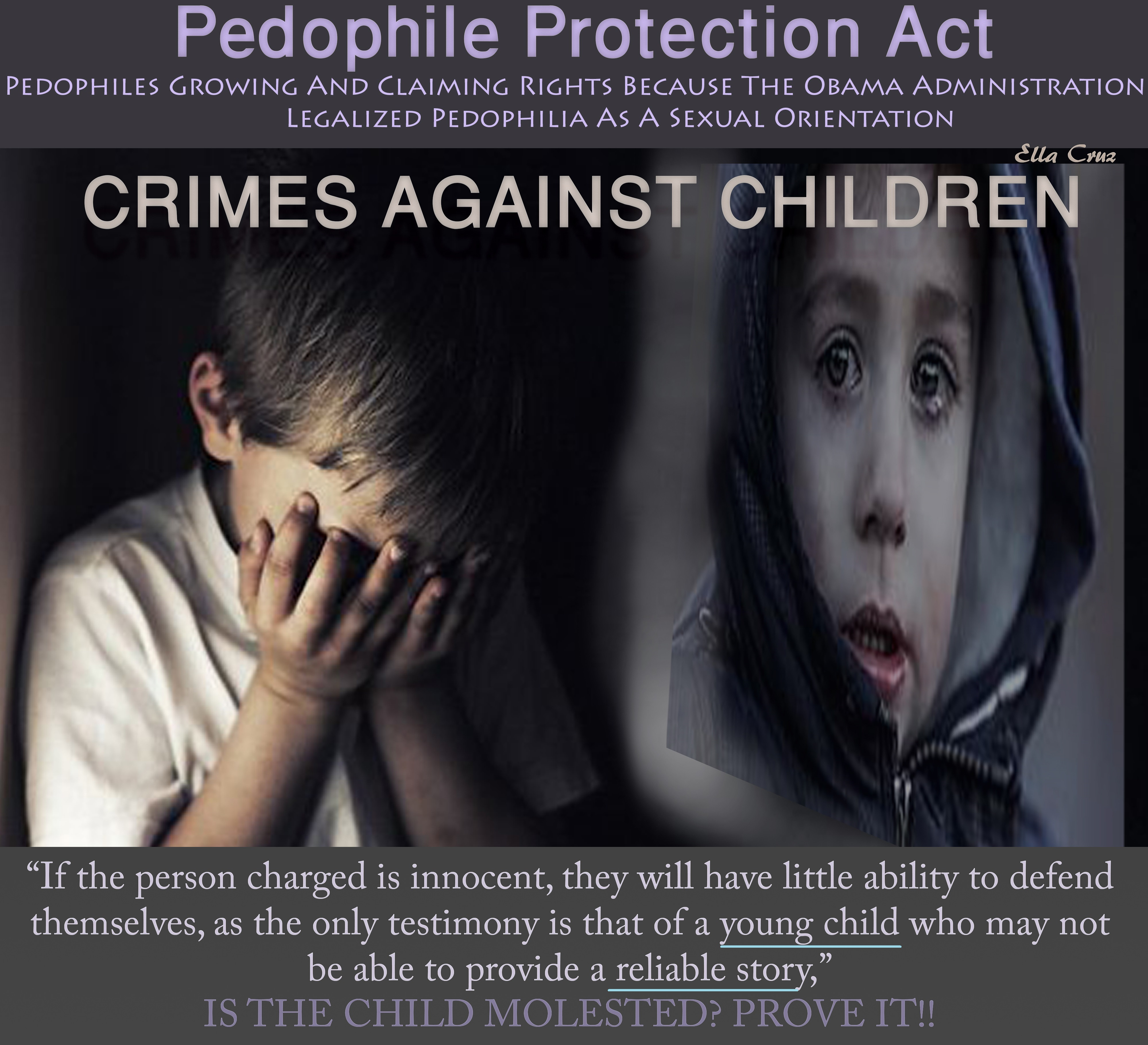 "Pedophiles Claim Sexual Orientation Rights Because Obama Signed The ""Pedophile Protection Act"""