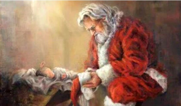"Facebook Censored An Image of Santa Claus Kneeling Before The Baby Jesus, Deeming It ""Violent or Graphic Content.""--By WND"