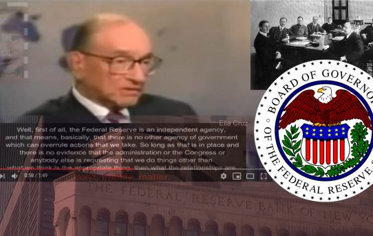 "Video: Alan Greenspan; Former Chair of The Federal Reserve: ""Well, First of All, The Federal Reserve Is An Independent Agency & That Means There Is No Other Agency of Government Which Can Overrule Actions That We Take"""