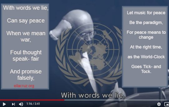 Listen: The United Nations Hymn: With Words We Lie