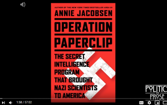 Video: Operation Paperclip In Pictures By Annie Jacobson
