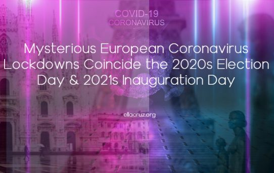 Mysterious European Coronavirus Lockdowns Coincide the 2020s Election Day & 2021s Inauguration Day