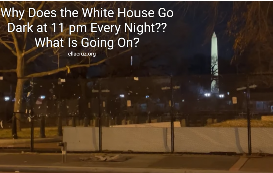 What Is Going On? The White House Goes Dark at 11 pm Every Night