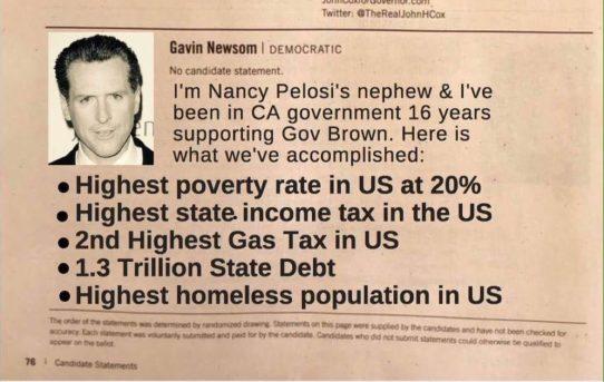 Gavin Newsom Is Nancy Pelosi's (Daughter of Baltimore's Mafia Boss) Nephew