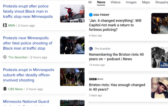 "Google Shadow Bans Searches For ""Riots Today"" Following Violent Unrest in Minnesota-by News Wars"