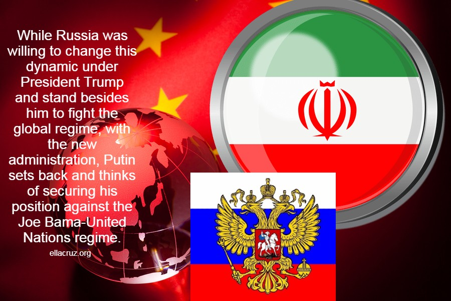 While Russia was willing to change this dynamic under President Trump and stand besides him to fight the global regime, with the new administration, Putin sets back and thinks of securing his position against the Joe Bama-United Nations regime. ellacruz.org