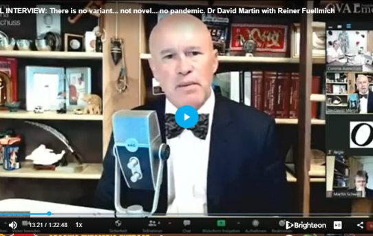 FULL INTERVIEW: There Is No Variant... Not Novel... No Pandemic. Dr David Martin With Reiner Fuellmich