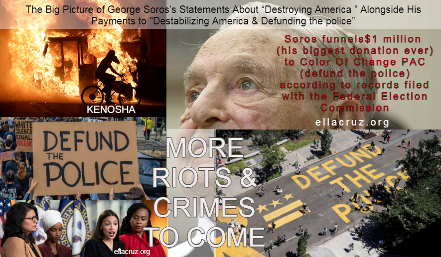 Soros gave $1 million to Color Of Change PAC (defund the police) according torecords filed with the Federal Election Commission- ellacruz.org